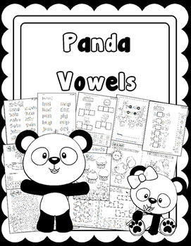 Panda Vowels No Prep Workbook: Learn the Vowels and CVC Words!