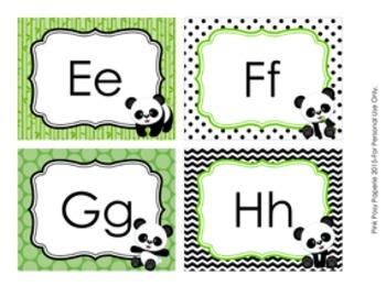 Panda Word Wall Headers