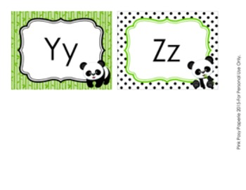 Panda Word Wall Headers