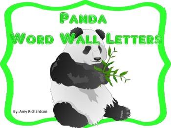 Panda Word Wall Letters