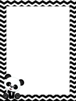 Panda Writing Paper - 3 Styles