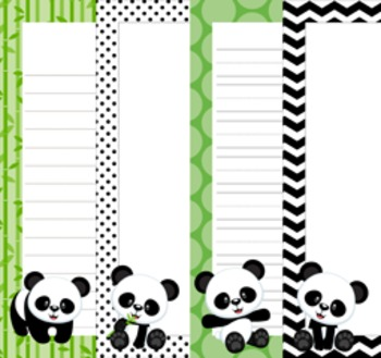 Panda Writing Paper - 3 Styles