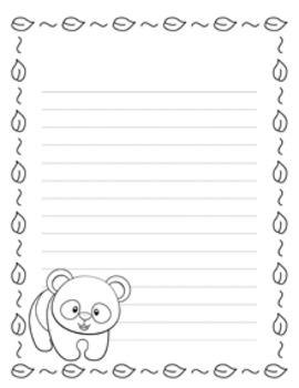 Panda Writing Paper - 3 Styles - Black and White