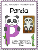 "Panda and Letter ""P"" Crafts"