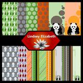 Panda-monium Acorn {Digital Paper Background Set}