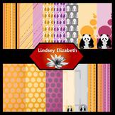Panda-monium {Digital Paper Background Set}