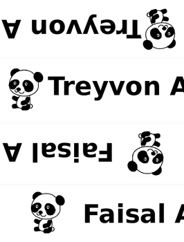 Panda name tents