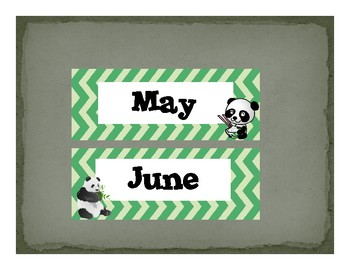Panda themed Classroom Decor