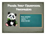 Panda themed Classroom Decor