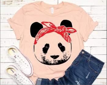 Panda whit Bandana Design svg animal cute panda bow 952S