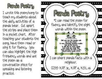 PandaRiffic Common Core Aligned Literacy and Math Activities
