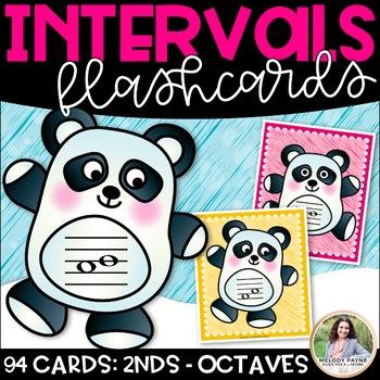 Intervals Flash Cards: Pandamonium! {Color and Ink-Friendl