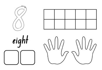 Panda's 1-10 Number activity sheets. Includes dot patterns, ten frames, & more!