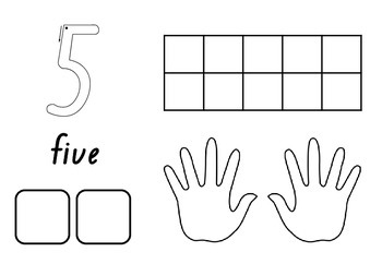 Panda's 1-10 Number activity sheets. Includes dot patterns