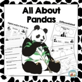 All About Pandas, Writing Prompts, Graphic Organizers, Diagram