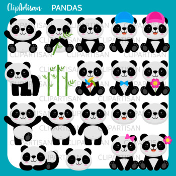 Pandas Clipart, Panda Bear