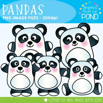 Pandas - Clipart for Teachers and Classrooms