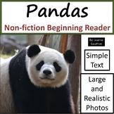 Pandas: Non-fiction animal e-book for beginning readers