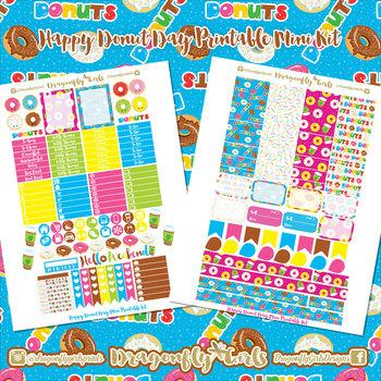 Donuts Printable Planner Stickers Mini Kit