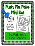 Pandas - St. Pat - Push Pin Poke No Prep Printable - 6 Pic