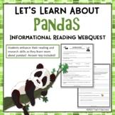 Pandas Webquest - Fun Informational Reading Research Activity