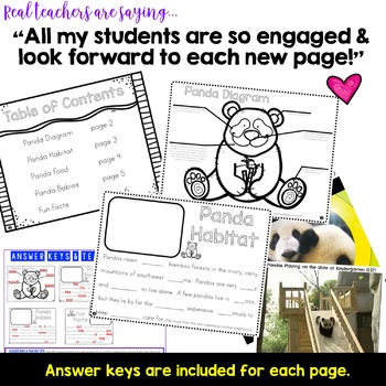 Pandas ...  Zoo Animal Research Mixed w/ Authentic Literacy Practice!