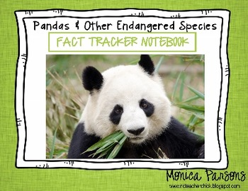 Pandas and Other Endangered Species Fact Tracker Research Guide