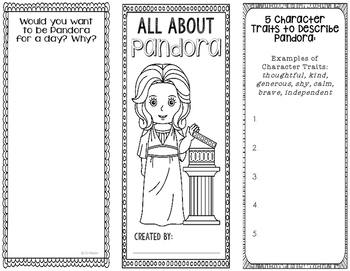 Pandora - Greek Mythology Biography Research Project - Interactive Notebook