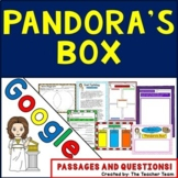 Pandora's Box Greek Mythology for Google Drive with Passages and Questions
