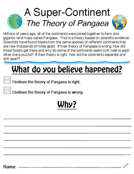 Pangaea / Continental Drift Lesson