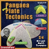 Pangaea and Plate Tectonics Circle Book Reports: 24 Mix-and-Match Templates