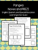 Pangea Notes Sheets and PREZI (Differentiated, Spanish, English, SPED, ESOL)