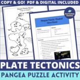 Pangea (Pangaea) Supercontinent Puzzle Activity MS-ESS2-3
