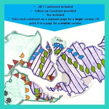 Pangea Puzzle Continental Drift By Crazysciencelady Tpt