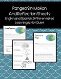 Pangea Simulation (Differentiated, English, Spanish, ESOL, SPED) Landforms