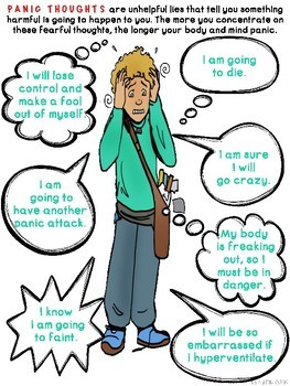 Panic Attack Coping Skills Informational Posters and Handouts