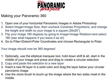 Panoramic Photography Lesson