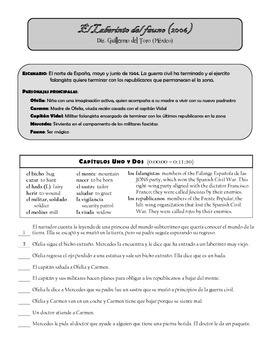 Pan's Labyrinth / Laberinto del fauno Movie Guide for Spanish students