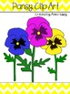 Pansy Clip Art (Graphics for Commercial Use)