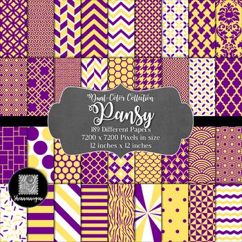 12x12 Digital Paper - Color Scheme Collection: Pansy (600dpi)