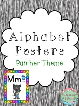 Panther Themed Alphabet Posters
