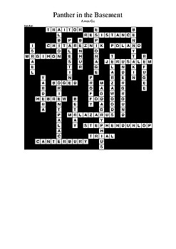 Panther in the Basement - Review Crossword