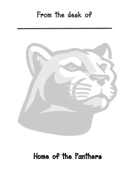 Panther mascot memo sheet