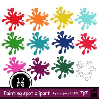 Panting Color blot clipart