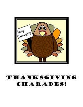 Thanksgiving Charades!