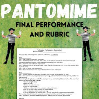 Pantomime Final Performance + Rubric
