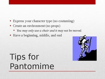 Pantomime Presentation- Power Point (Drama Unit 1)