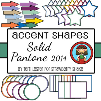Pantone 2014 Accents 52 Coordinating Shapes for personal and commercial use