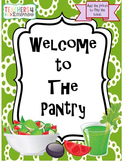 Pantry Activity FREEBIE