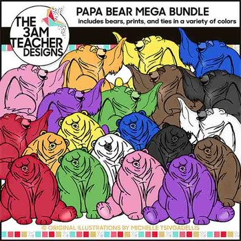 Papa Bear Clip Art Mega Bundle